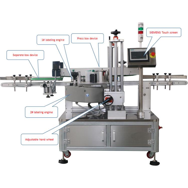 Детаљи машине за аутоматско означавање угла картонске кутије