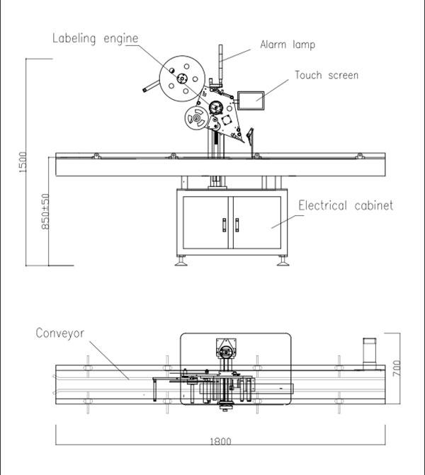 Аутоматска машина за самолепљивање са равним горњим делом