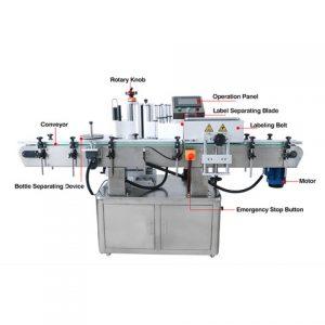 Аутоматска машина за етикетирање штапића са боцама за сос