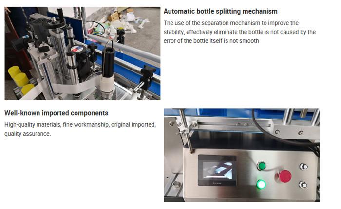 Детаљи машине за аутоматско етикетирање столних боца